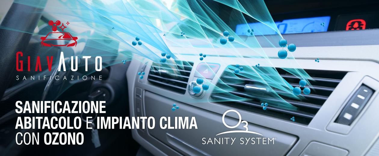 sanificazione abitacolo, clima e interni auto con ozono